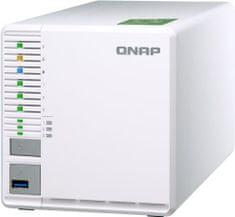 Qnap NAS server TS-332X-2G, za 3 diska