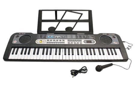 Unikatoy klavir s mikrofonom s MQ zaslonom BAT.ŠK. 25035, 61 tipka