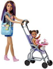 Mattel Barbie bébiszitter játékkészlet – baba szürke pólóban