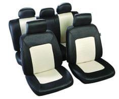 MAMMOOTH Potahy na sedadla Bogota, kombinace přední a zadní, materiál: polyester, barva: černo-béžová