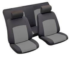 MAMMOOTH Potahy na sedadla Chatel, kombinace přední a zadní, materiál: polyester, barva: černo-šedá