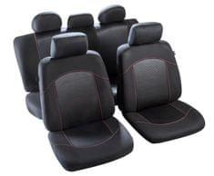 MAMMOOTH Potahy na sedadla Flaine, kombinace přední a zadní, materiál: polyester, barva: černá