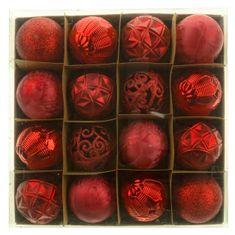 Seizis Set 16 koulí, červené, 6 cm