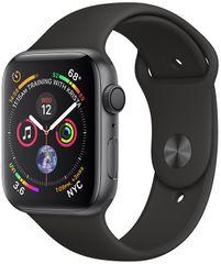 Apple Watch Series 4, 44mm, pouzdro z vesmírně šedého hliníku/černý řemíne