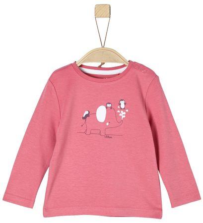 s.Oliver Dívčí tričko s potiskem 50/56 růžová