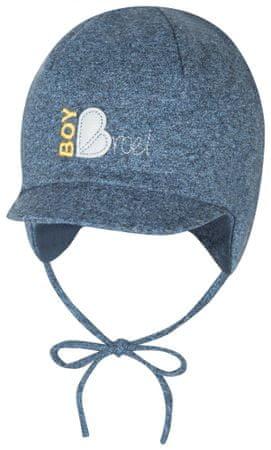 Broel chlapecká čepice Basic s vázáním 37 modrá