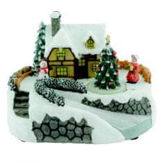Seizis ozdoba świąteczna - wioska z potokiem i światłami LED
