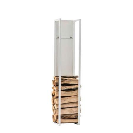 BHM Germany Stojan na drevo Gnister, 120 cm, matná biela