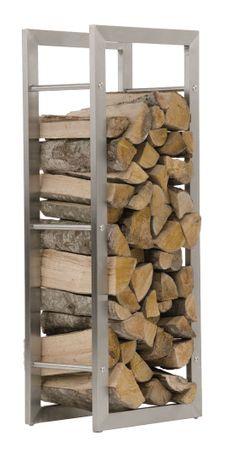 BHM Germany Stojan na drevo Karin, 60x100 cm, nerez