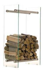 BHM Germany Stojan na dřevo Malin, 40x60 cm, čiré sklo