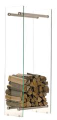 BHM Germany Stojan na drevo Malin, 40x150 cm, číre sklo