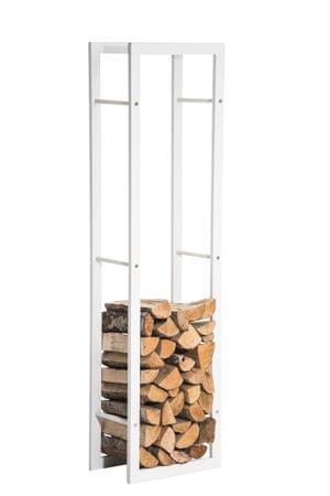 BHM Germany Stojan na drevo Karin, 40x100 cm, matná biela