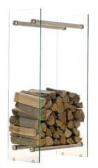 BHM Germany Stojan na drevo Malin, 60x100 cm, číre sklo