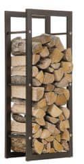 BHM Germany Stojan na dřevo Karin, 60x100 cm, matná černá