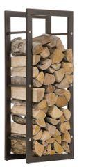 BHM Germany Stojan na dřevo Karin, 40x100 cm, matná černá