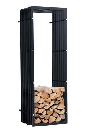 BHM Germany Stojan na drevo nástenný John, 150 cm, matná čierna