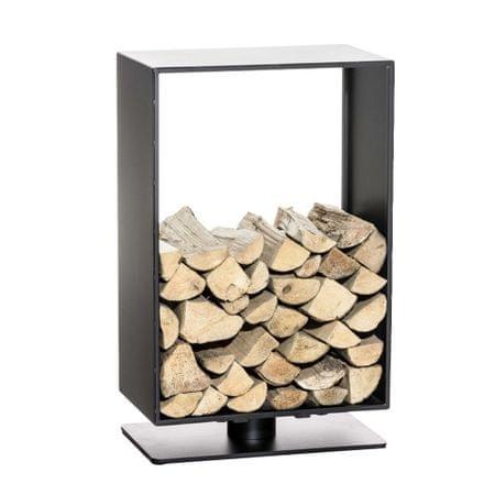 BHM Germany Stojan na drevo Roma, 50x60 cm, matná čierna