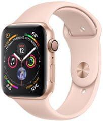 Apple smartwatch Watch Series 4, 44 mm, złota aluminiowa obudowa/różowy pasek