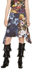 Desigual Dámská sukně Fal Riddim Navy 18WWFW12 5000
