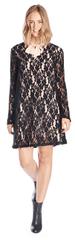 Fornarina Kobiety ubierają Linnet - Black Dress BI188F13H28400