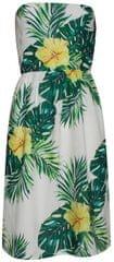 Smashed Lemon Damska krótka sukienka w kolorze białym 18384/01