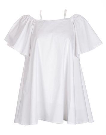 Fornarina Kobiety ubierają Deana- White sukienka (rozmiar L)