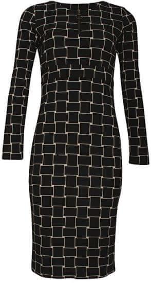 Smashed Lemon Dámské šaty Black/Creme 18597 (Velikost S)