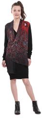 Desigual Dámske šaty Vest Bernard Negro 18WWVF02 2000