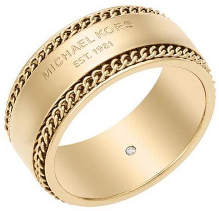 bb0d2c916 Michael Kors Pozlátený oceľový prsteň MKJ5892710 (Obvod 60 mm) | MALL.SK