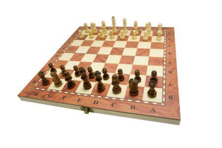 Unikatoy drveni šah 3u1 25165, 34x34 cm