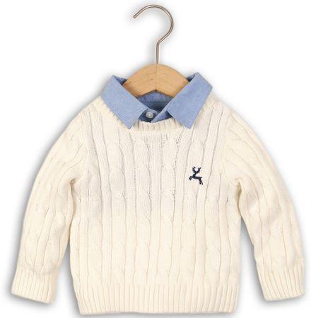 Minoti chłopięcy sweter z koszulą 98/104 beżowy