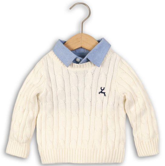 Minoti Chlapecký svetr s košilí 98/104 béžová