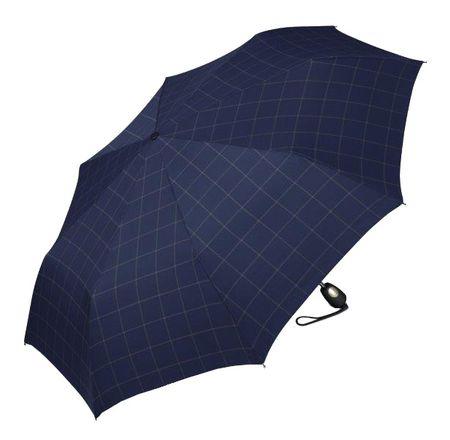 Esprit Męska parasol Gents Mini Tecmatic Check Blue