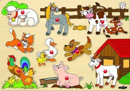 Woody Puzzle a fedélzeten - állatok a gazdaságban