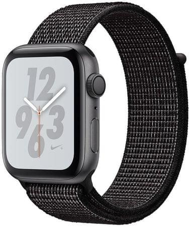 Apple Watch Nike+ Series 4,44mm, űrszürke alumínium tok / fekete szíjjal