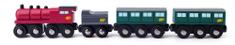 Woody Parná lokomotíva s uhlím a vagónmi