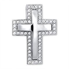Brilio Nádherný prívesok z bieleho zlata Křížek 249 001 00242 07 - 3,90 g biele zlato 585/1000