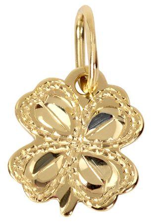 0b744a2f7 Brilio Zlatý prívesok Štvorlístok 242 001 00169 - 0,30 g žlté zlato 585/