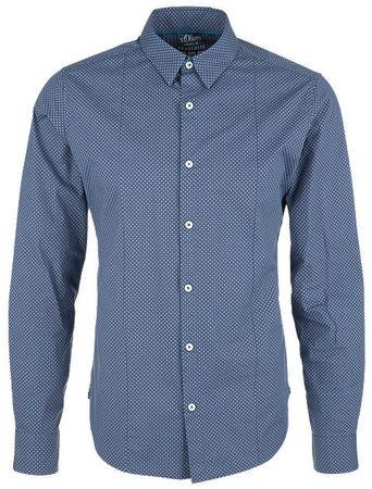 s.Oliver pánská košile M tmavě modrá