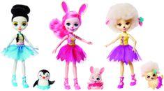 Mattel Enchantimals - 3 balerine s hišnimi ljubljenčki