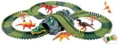 Alltoys Variabilná dráha s dinosaurami a tunelom 144 dielov