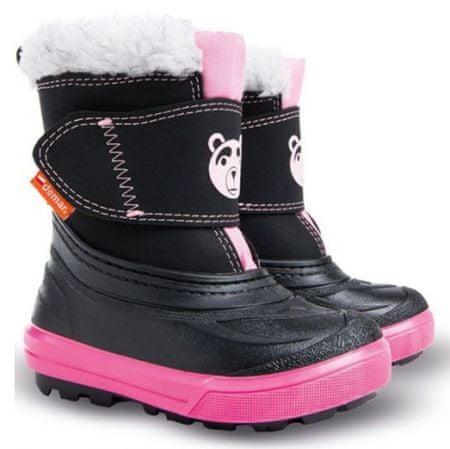 a0fa5d063 Demar Dívčí sněhule Bear 24-25 černo-růžové | MALL.CZ