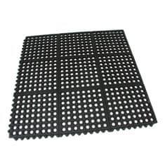 FLOMAT Gumová protiúnavová modulární rohož Restaurant Top Tile - 91 x 91 x 1,4 cm