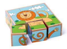 Woody kostka-układanka 3x3 - zwierzęta egzotyczne