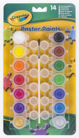 Crayola Vodové farby - s nádobkami na miešanie