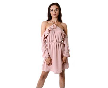 Guess Dámské šaty Violette Ruffle Dress Pink (Velikost S)