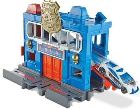 Hot Wheels zestaw do budowania miasta City - Posterunek policji