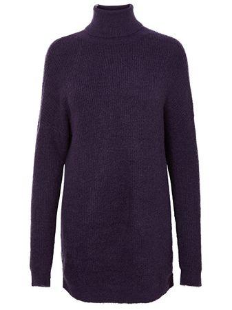Vero Moda Női történet görbe Ls Roll Dress Dress Purple Velvet (méret XL)