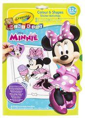Crayola Mini kids omalovánky se samolepkami Minnie