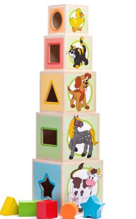 Woody Wieża z 5 klocków - Zwierzątka
